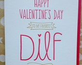 Funny Naughty Sexy Valentine's Day Card for Husband, Boyfriend Card - DILF Card - Funny Valentine's Card Naughty Valentines Day