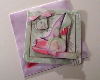 Ooh, la, la handmade birthday card with matching envelope.