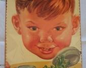 Vintage Food Advertising wooden book