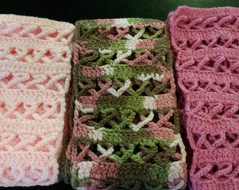 AWARENESS RIBBON, crochet scarves......