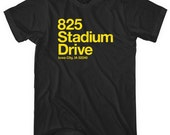 Iowa Football Stadium T-shirt - Men and Unisex - XS S M L XL 2x 3x 4x - Kinnick - Hawkeyes - 4 Colors