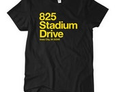 Women's Iowa Football Stadium T-shirt - S M L XL 2x - Ladies Iowa Tee - 4 Colors