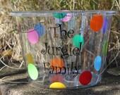 Personalized Acrylic Round Party Tub/ Ice Bucket