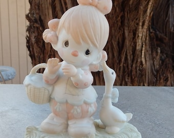 Precious Moments Waddle I Do Without You Clown and Duck Figurine Copyright 1985  Model 12459