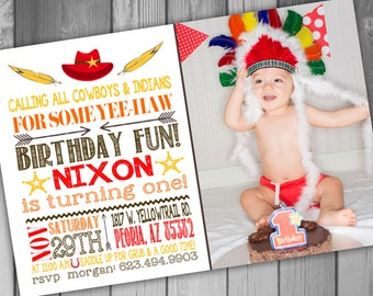 Cowboys and Indians Birthday Cowboys and Indians Party Cowboy Birthday Cowboy Party Indian Birthday Indian Party Boy Birthday Party