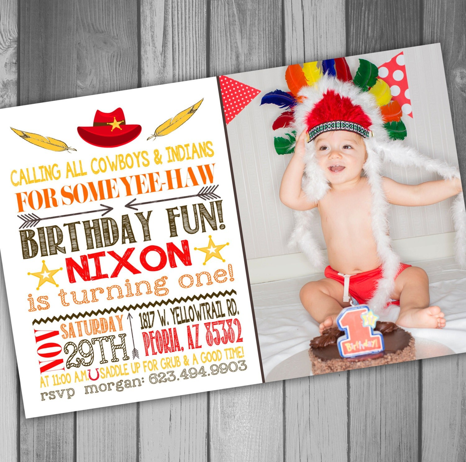 Cowboys and indians – Cowboy and Indian Party Invitations