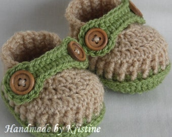 Crochet baby shoes for newborn, handmade baby booties, crocheted shoes, NB, 0-3m or 3-6m, choose your size and colours