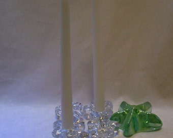 Candle Holders, Glass Taper Candle Holders, # 51