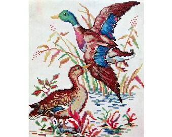 Ducks Embroidery Transfer Kaumagraph McCall 1359