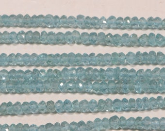 Apatite 3.3mm faceted rondelle Natural Gemstone Beads Jewelry Making Supplies