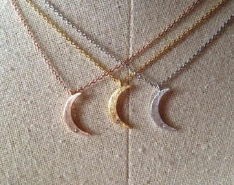 Moon Necklace, Dainty Necklace