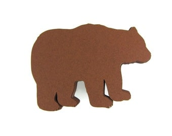 Bear Paper Cut Outs set of 25