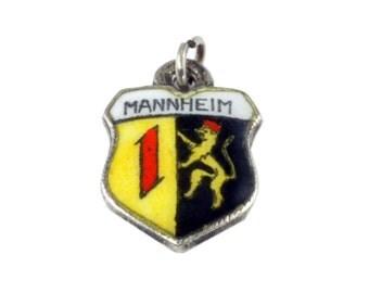 Vintage Shield Charm - Mannheim Germany - 800 Silver Charm - Charm for Bracelet - Germany Souvenir, Mannheim Charm, European Griffin Charm