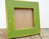 Instagram frame - green photo frame -  reclaimed wood- 4x4 - Green and yellow