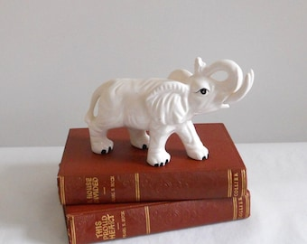 Empress Haruta Japan Vintage White Elephant Figurine Raised Trunk