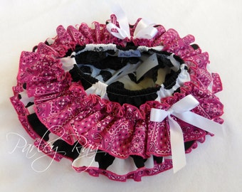 Beautiful Parley Ray Pink Cowgirl All Around Ruffle Skirt Baby Girl Ruffled Bloomers/ Diaper Cover