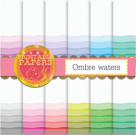 Ombre Digital Paper Ombre Background Ombre By Gemmedsnail