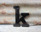 Vintage Letter Sign Lower Case 6 Inch Letter k Sign Black Plastic Letter Sign Display Marquee Alphabet vtg Letters Wall Art Pop Art Retro