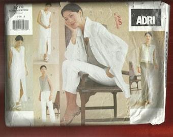 Vogue 2279 Designer Adri Resort Wear Wardrobe Super Casual Sizes 14..16..18