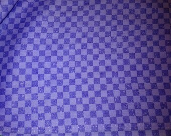 Lavender and Lilac Check Cotton Fabric by AvLyn Creations Inc. x one yard