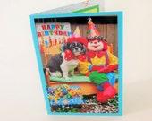 Shih Tzu Birthday Card, Circus Clown Birthday Card, Dog Birthday Card