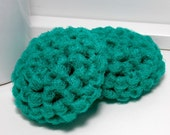 Teal Scrubbies - Crochet Dish Scrubby - Reusable Teal Scouring Pads - Set of 2 - Gifts Under 5