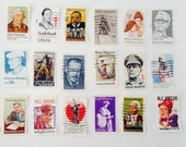 Used postage stamps - Commemoratives- decoupage - Collage - Stamp collection