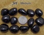 Jet (medium) tumbled stone for crystal healing