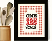 Bakery Sign Chef Gift Kitchen Art Print Cooking Apron Farmhouse Chic Cookbook Kitchen Quote, Country Decor Loves to Cook Bakers Gift