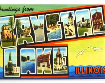Greetings from Crystal Lake Illinois Fridge Magnet