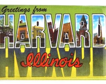 Greetings from Harvard Illinois Fridge Magnet