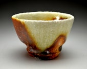Shigaraki, anagama, ten-day anagama wood firing, with natural ash deposits sake cup. gui-07