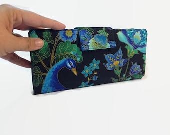 Women's Wallet, Peacock wallet, Credit Card Holds, 38 loyalty card Holder, Women's Card Wallet, Women's Wallet