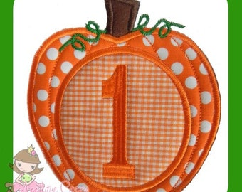 Monogram Pumpkin Applique design