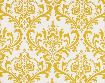 Premier Prints Damask Yellow/White Slub
