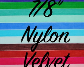 Nylon Velvet Trim 7/8 inches wide