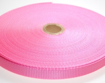 """3/4"""" Light Pink Nylon Heavy Weight Webbing - Two or Five Yards - More Available"""