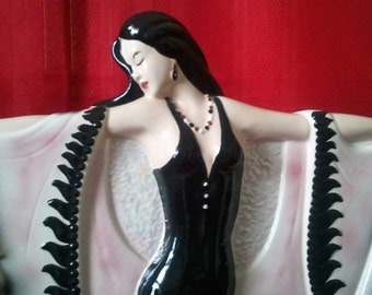 "Lady Statue Modeling-Ceramic-17""Tall"