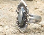 Sterling silver hematite ladies/ womens ring