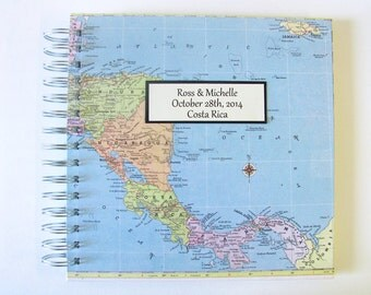 Costa Rica, Large Customized Travel Journal, Central America