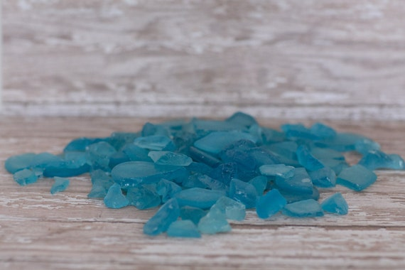 Beach Decor Sea Glass - 2 LBS - Turquoise Hand Tumbled Beach Glass - Nautical Decor