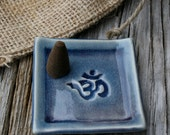 OM cone incense tray, OM mantra, cone incense, meditation, incense holder, incense plate, aromatherapy