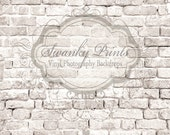 SWANKY PRINTS ORIGINAL 6ft x 5ft Vinyl Photography Backdrop / Warm Brick