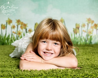 NEW DESIGN 2ft x 3ft Vinyl Photography Backdrops / May Flowers