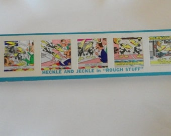 A343)  Vintage Heckle and Jeckle Kenner Give A Show Color Slides