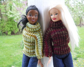 Turtleneck sweater for Barbie, Disney Princesses, or any other 11 1/2 inch fashion doll