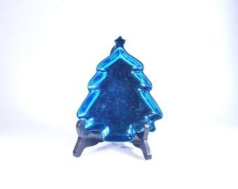 Blue Christmas Tree Ashtray Ashtrays Vintage Ash Tray Dish