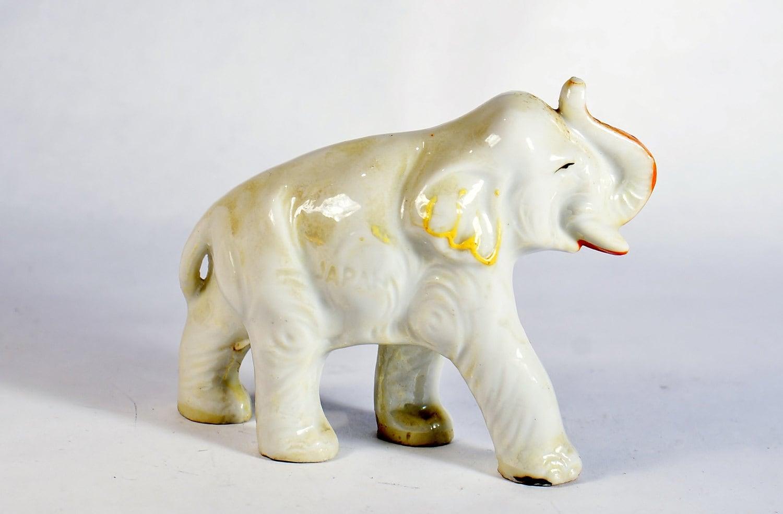 japan made elephant vintage figurine ceramic figurines. Black Bedroom Furniture Sets. Home Design Ideas