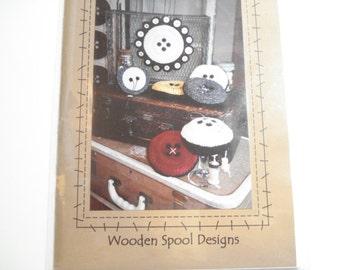 Cute as a Button Pincushion by Wooden Spool Designs