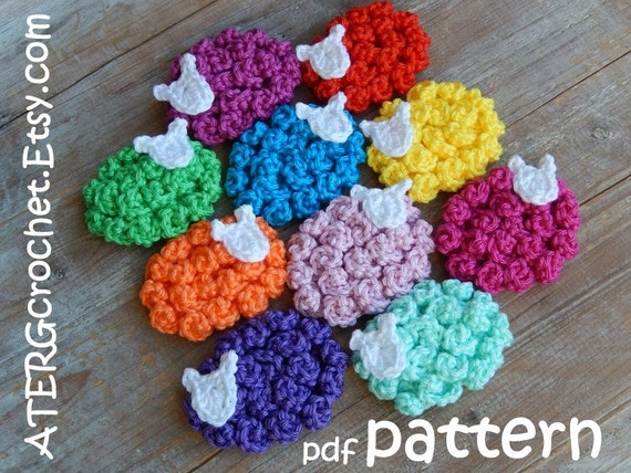 Crochet Patterns Key : Crochet pattern SHEEP magnet/key ring by ATERGcrochet